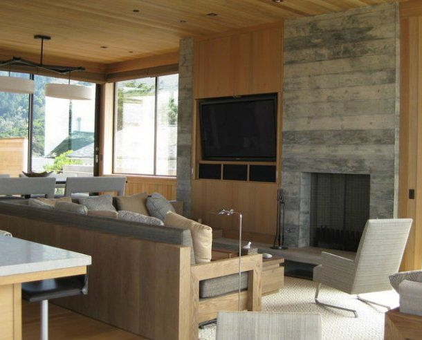 6 formas de combinar la televisi n y la chimenea en el - Chimeneas artificiales decorativas ...