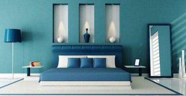 Azul turquesa marino el ctrico y klein tendencia en - Color turquesa en paredes ...
