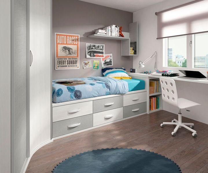 Habitaciones infantiles y juveniles preciosas muebles amets - Dormitorios infantiles dobles ...