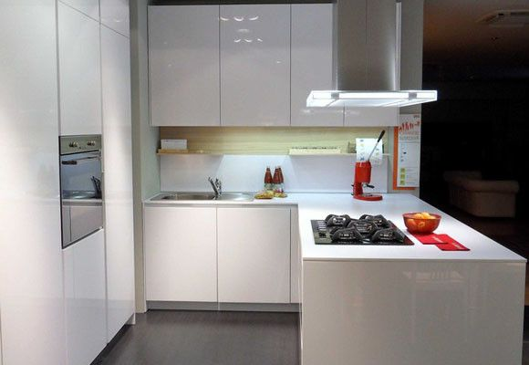Una peque a cocina muebles amets for Cocina americana pequena moderna