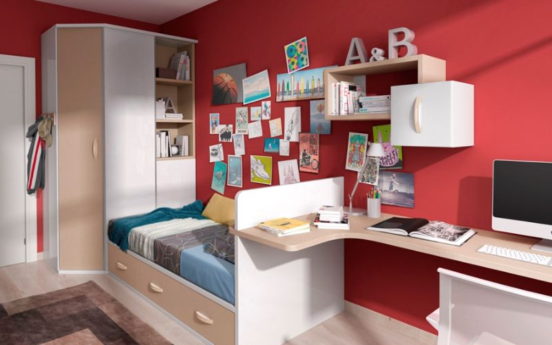 Como decorar un dormitorio juvenil decoracion dormitorio for Como amueblar un dormitorio