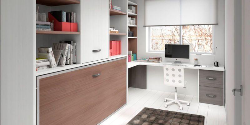 Camas abatibles para habitaciones peque as muebles amets - Escritorios para habitaciones pequenas ...